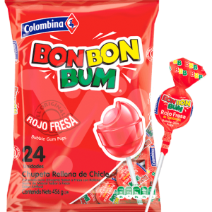 Bon Bon Bum, Fragola 408gr – Colombina